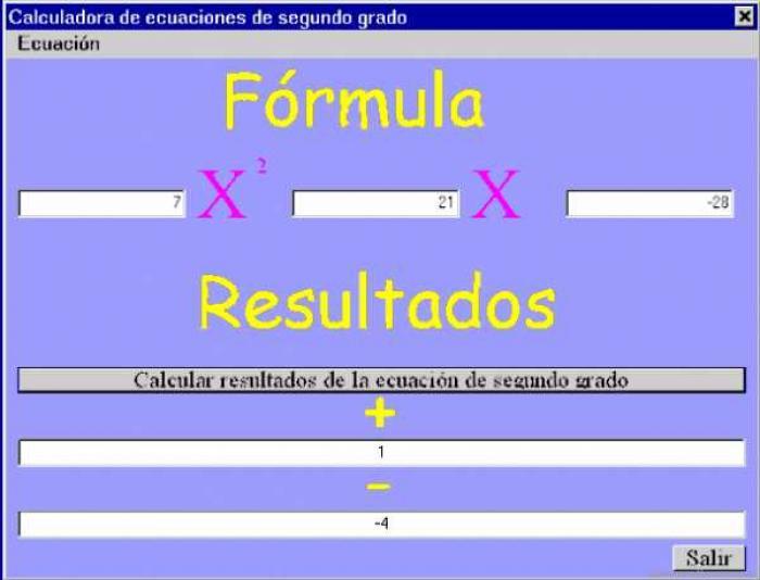 programa de ecuaciones