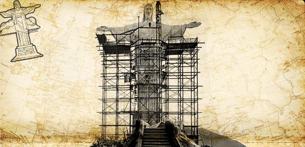construcción del cristo de brasil