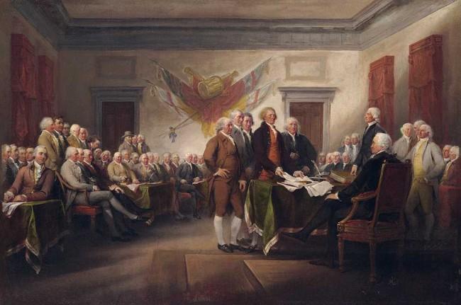Firma de la Declaración de la Indepencia de Estados Unidos
