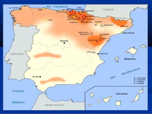 Primera Guerra Carlista Mapa.Que Fueron Las Guerras Carlistas Neetescuela